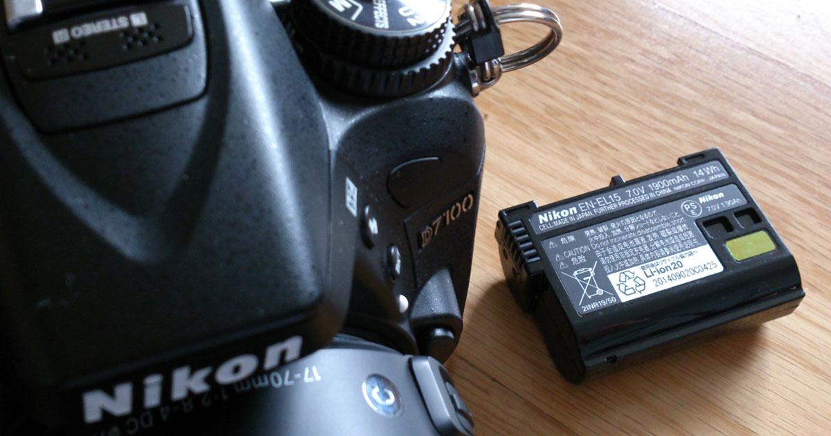 ニコンD7100のバッテリーEN-EL15が突然エラーの不具合発生