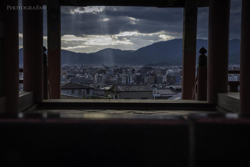 清水寺から見る京都の街