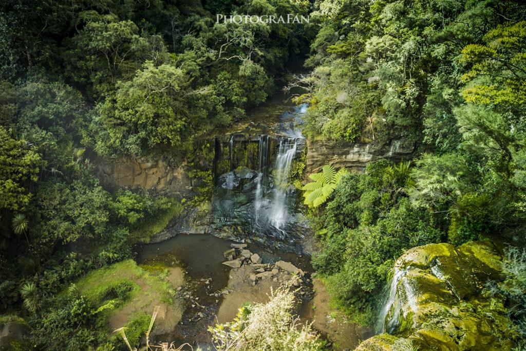 Mokoroa Fallの展望台からの眺め