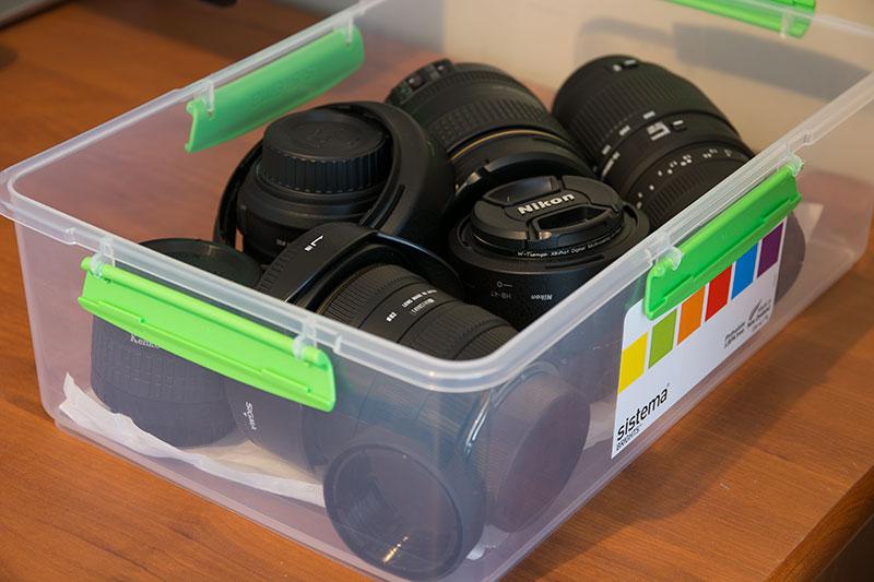 レンズが5、6本収納できるSistema