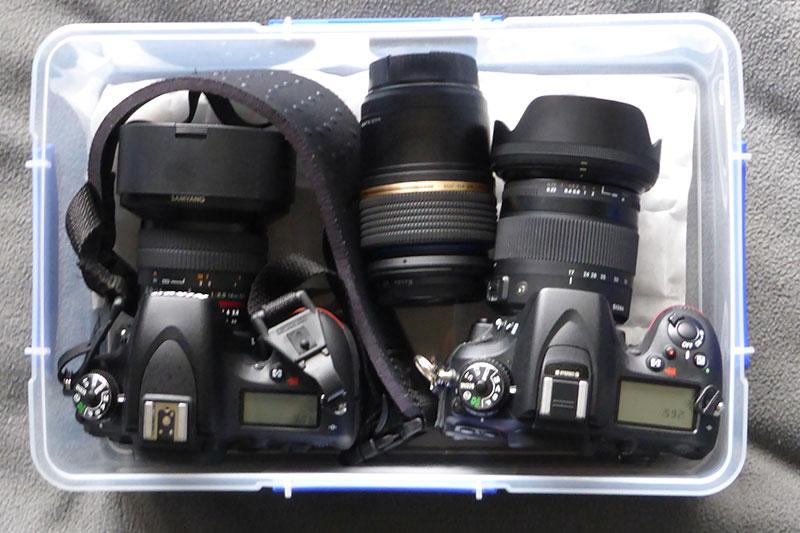カメラ本体を収納できるSistema