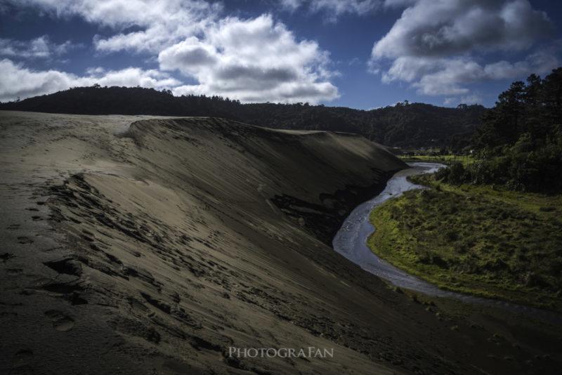 Wainamu Sand Duneの境目