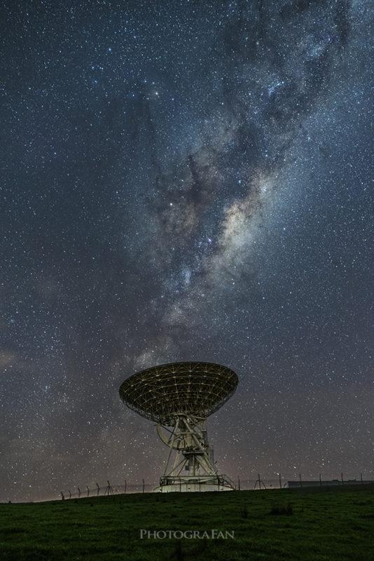 星空用と前景用を合成