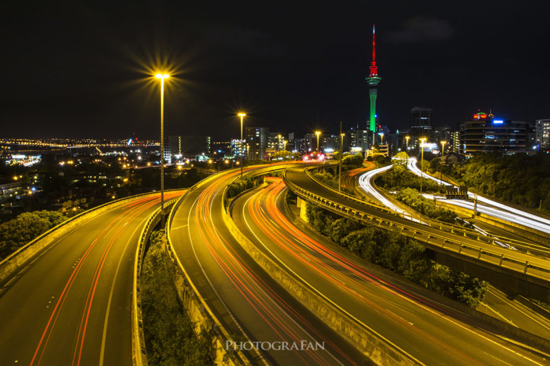 Aucklandの夜景