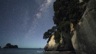 コロマンデルのCathedral Coveで天の川&星景撮影 ニュージーランドの人気観光スポット