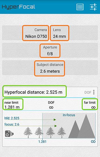 HyperFocal Proのキャプチャー画像