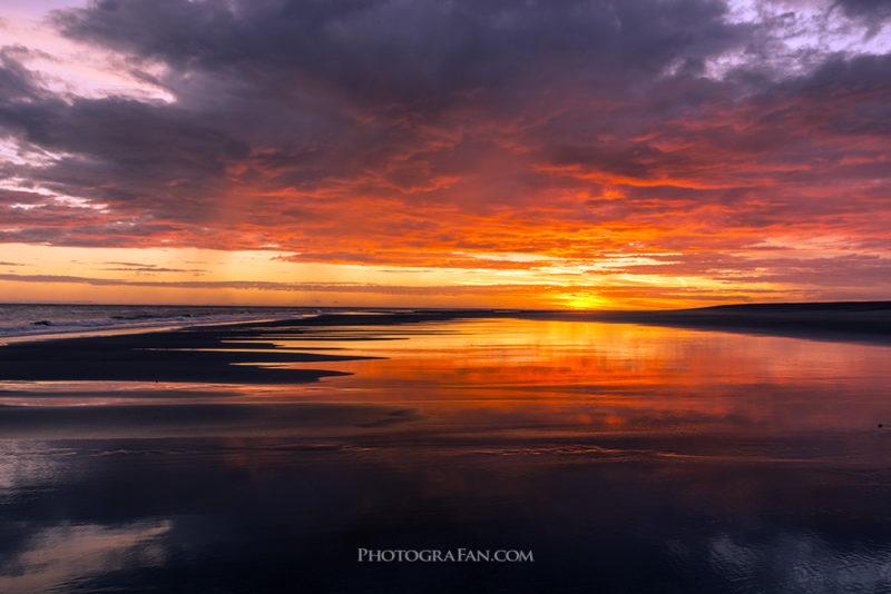 Sunset at Whatipu Beach