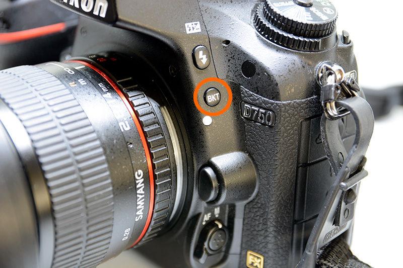 D750のBKTボタン