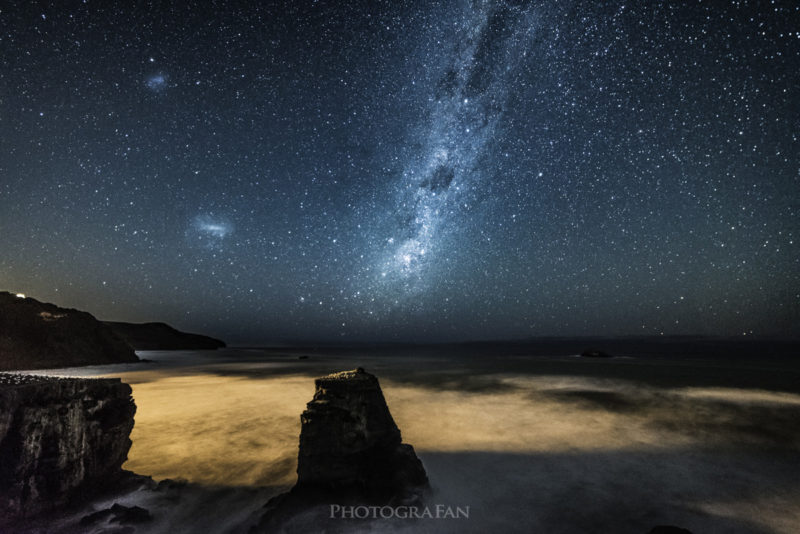 Milky way at Muriwai Gannet colony