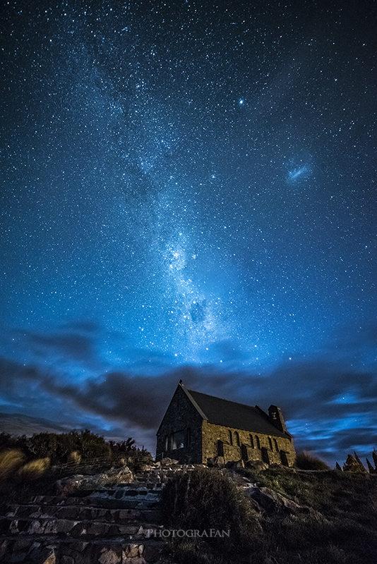 テカポの天の川と星空