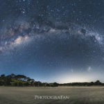 ニュージーランドの満天の星空を一眼レフカメラで360度パノラマ撮影 Pakiri Beach