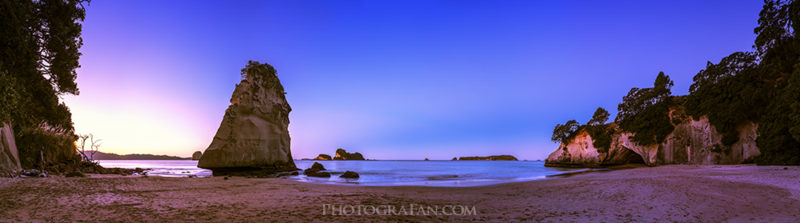 Cathedral Cove at blue hour