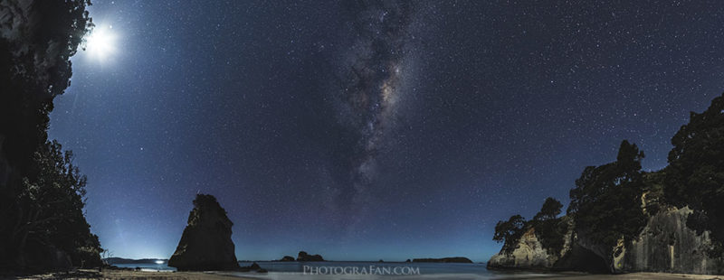 Milky way over Cathedral Cove