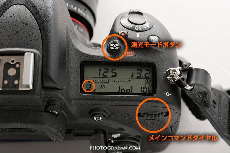 測光モードの切り替え方法