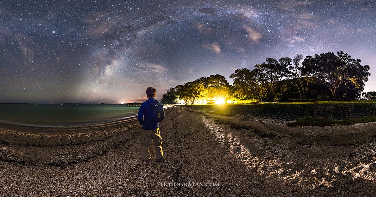 一眼レフで撮影した星空&天の川の360°全景パノラマ星景写真