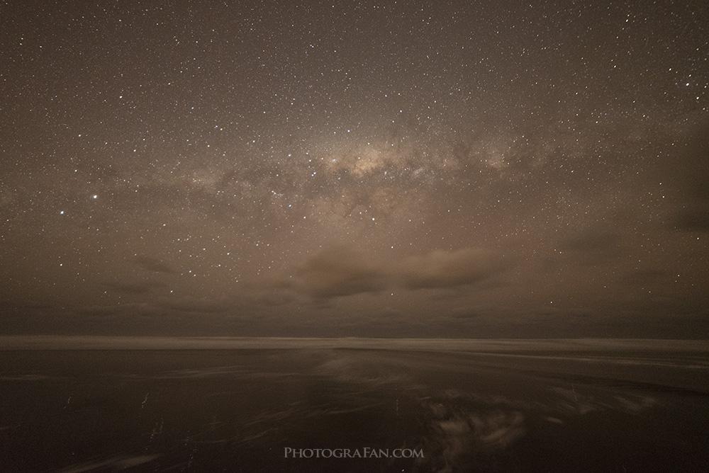 天の川の現像前のRAWファイル
