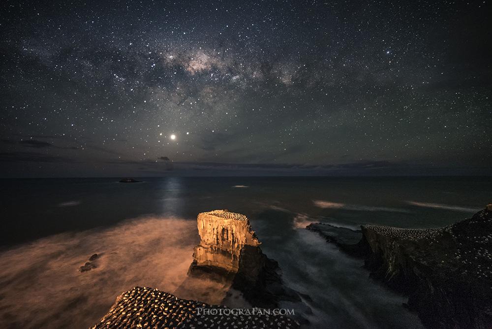 超広角レンズ14mmで撮影した星景写真