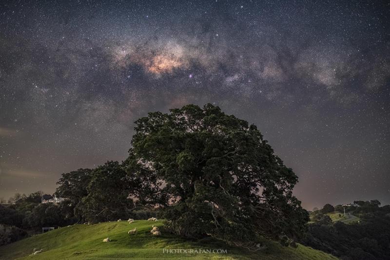 35mmレンズで星景&天の川の写真