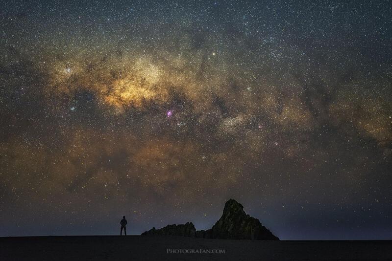 50mmレンズで撮影した天の川の星景写真