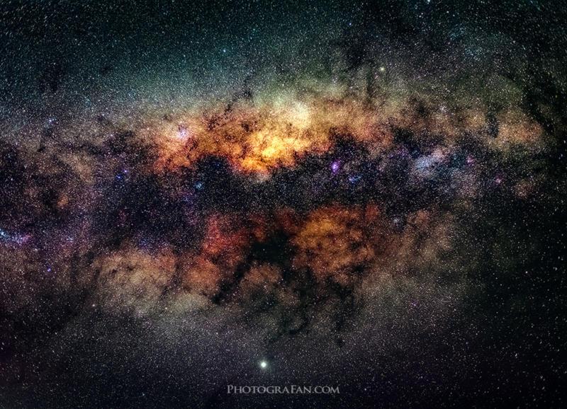 ニコン50mm f1.8レンズで撮影した天の川