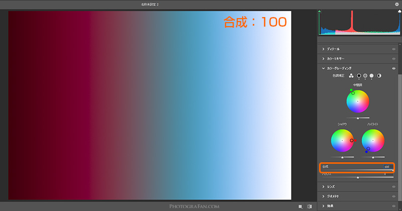 合成:100