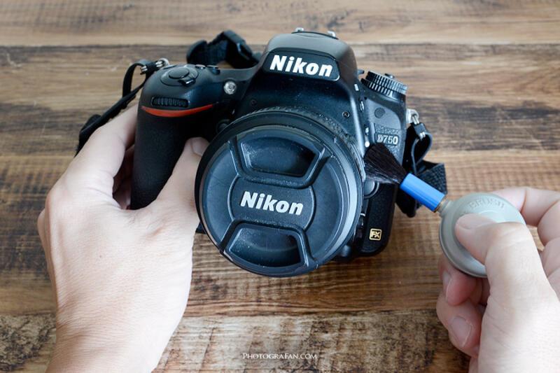 カメラ外部の塵や埃を除去